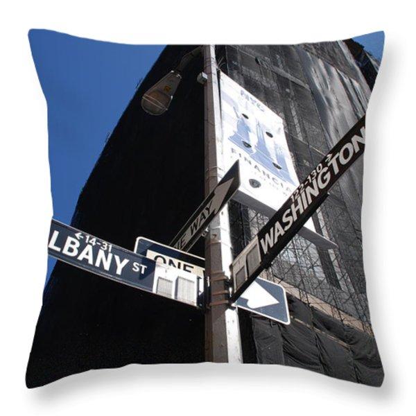 Albany And Washington Throw Pillow by Rob Hans