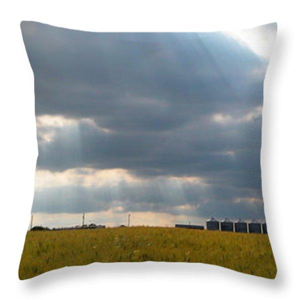 Alberta wheat field Throw Pillow by Stuart Turnbull