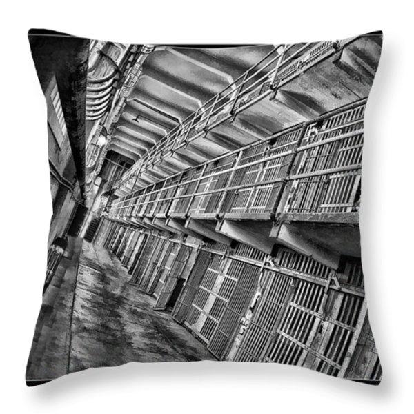 Alcatraz The Cells Throw Pillow by Blake Richards