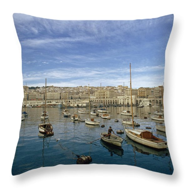 Algerians Call Their Capital Algiers Throw Pillow by Thomas J. Abercrombie
