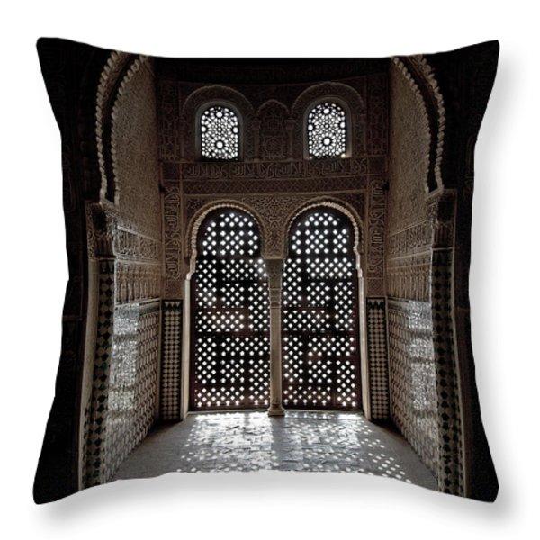 Alhambra window Throw Pillow by Jane Rix