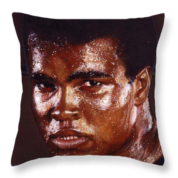 Ali Throw Pillow by Tim  Scoggins
