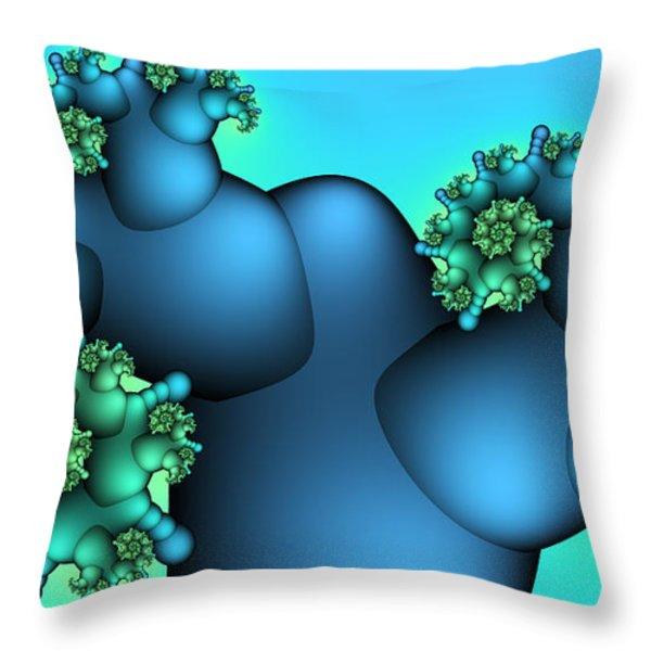 Alien Plant Throw Pillow by Jutta Maria Pusl