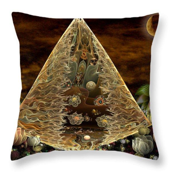 Alien Pyramid Throw Pillow by Peggi Wolfe