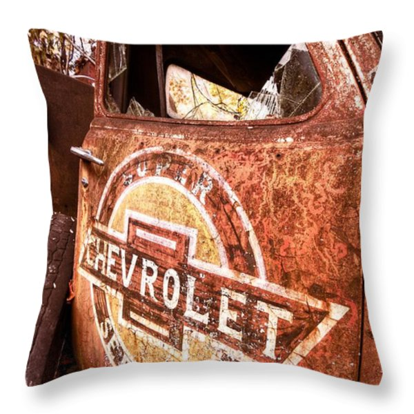 All American Throw Pillow by Debra and Dave Vanderlaan