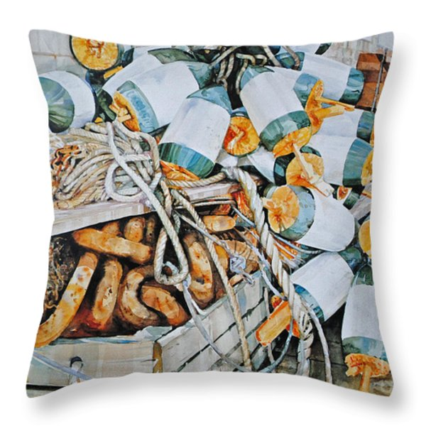 All Buoy'd Up Throw Pillow by P Anthony Visco