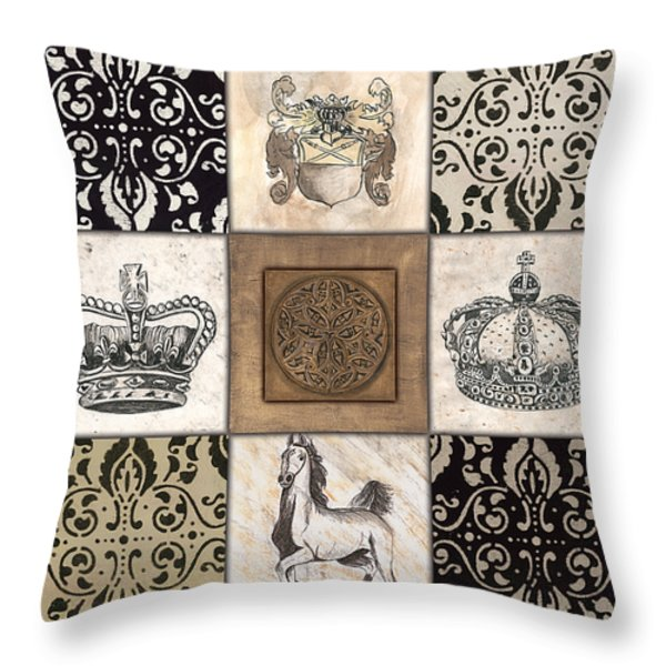 All Hail the Queen Throw Pillow by Debbie DeWitt