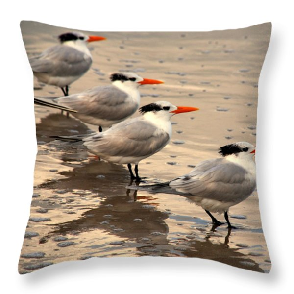 All Lined Up Throw Pillow by Susanne Van Hulst