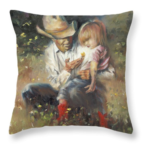 All Of Life's Little Wonders Throw Pillow by Mia DeLode