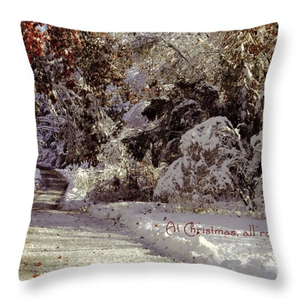 All Roads Lead Home Throw Pillow by Sabine Jacobs
