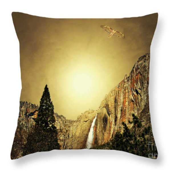 Almost Heaven . Full Version Throw Pillow by Wingsdomain Art and Photography