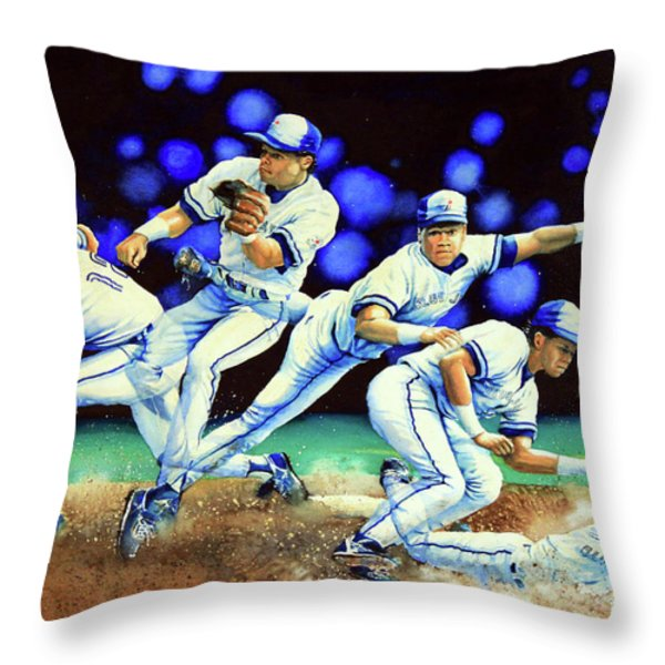 Alomar On Second Throw Pillow by Hanne Lore Koehler