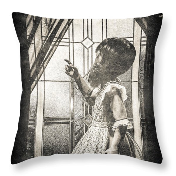 Along Came A Spider Throw Pillow by Bob Orsillo