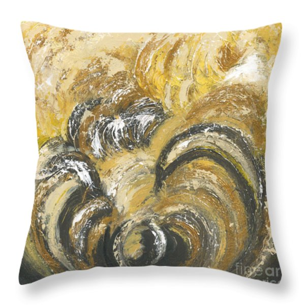 Amber Is The Color Of Your Energy Throw Pillow by Ania M Milo
