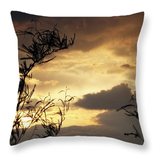Amber Sky Throw Pillow by Glenn McCarthy Art and Photography