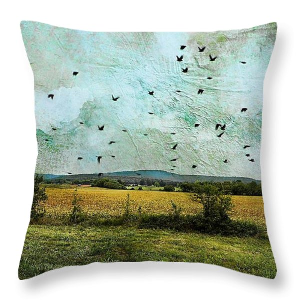 Amber Waves Of Grain Throw Pillow by Jan Amiss Photography