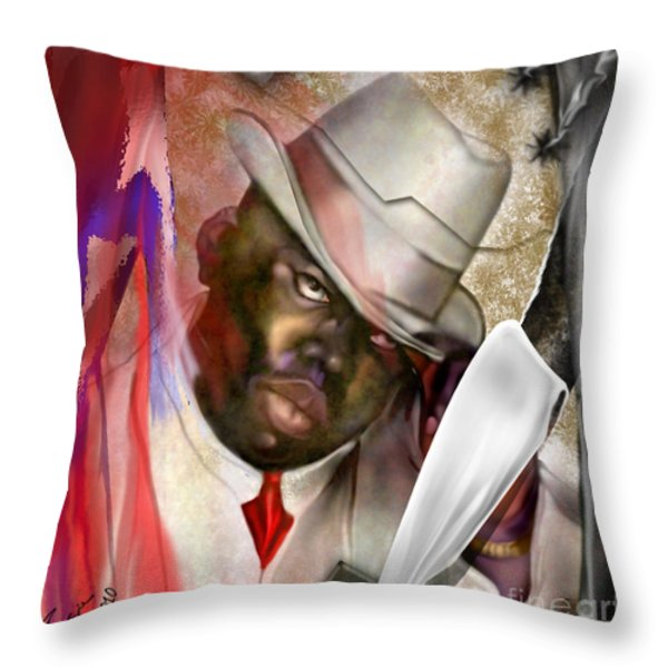 America Brainchild Throw Pillow by Reggie Duffie