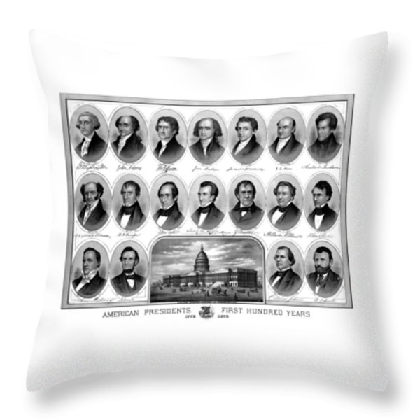American Presidents First Hundred Years Throw Pillow by War Is Hell Store