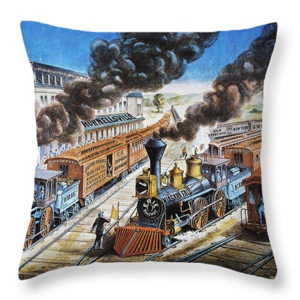 American Railway, 1876 Throw Pillow by Granger