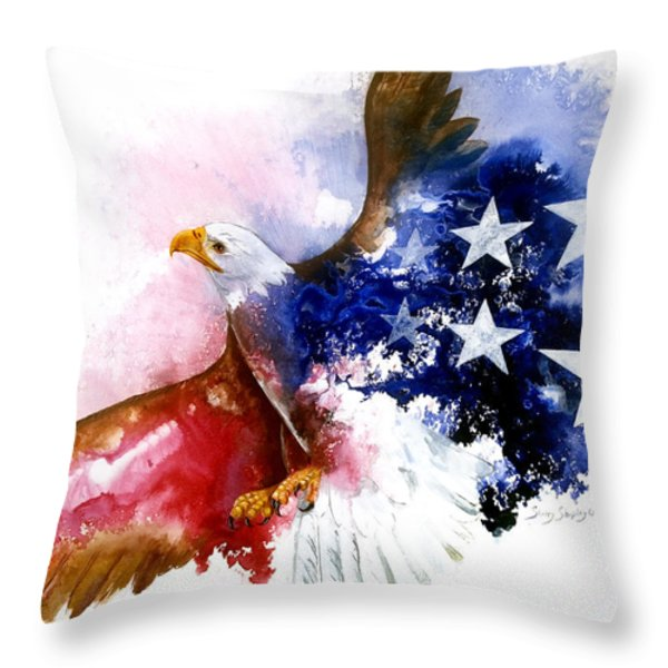 American Spirit Throw Pillow by Sherry Shipley