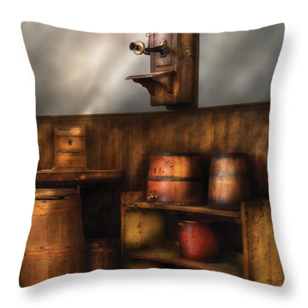 Americana -  In The Corner Of The General Store  Throw Pillow by Mike Savad