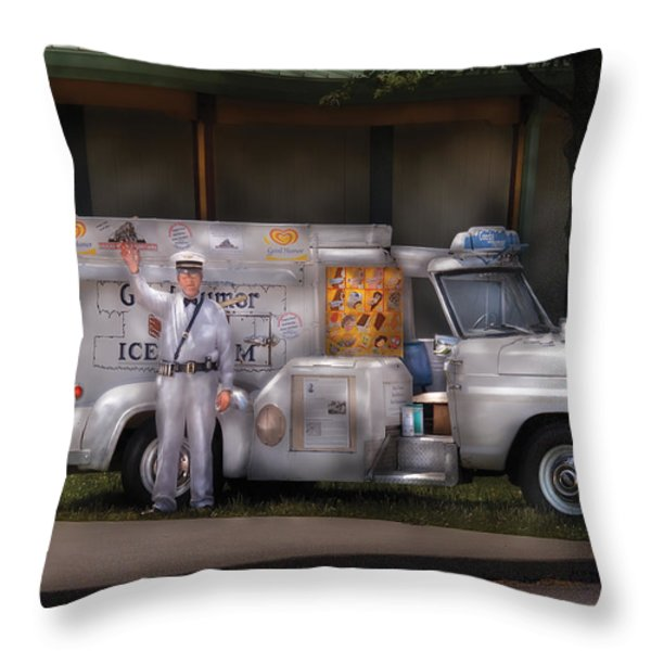 Americana -  We sell Ice Cream Throw Pillow by Mike Savad