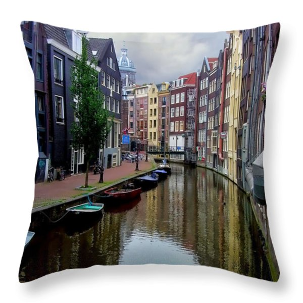 Amsterdam Throw Pillow by Heather Applegate
