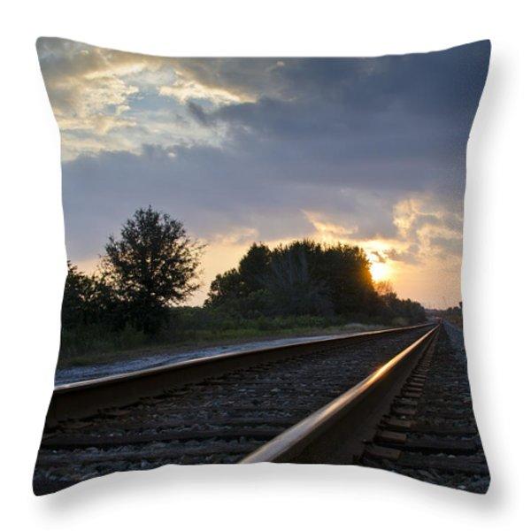 Amtrak Railroad System Throw Pillow by Carolyn Marshall