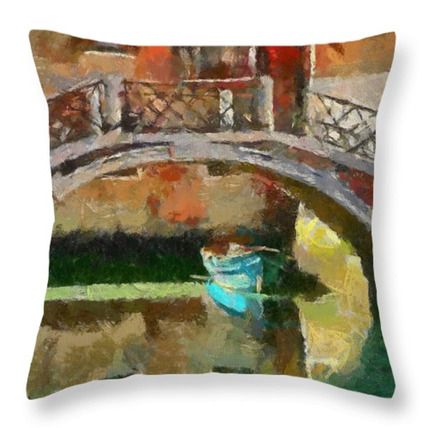 An Early Morning In Venice Throw Pillow by Dragica  Micki Fortuna