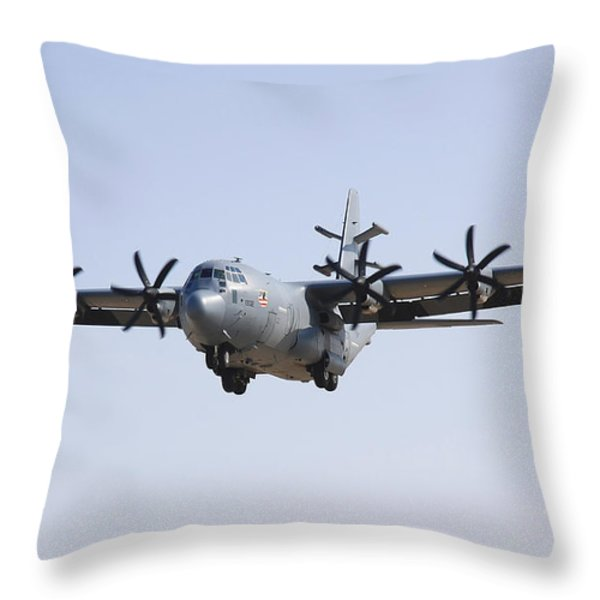 An Ec-130j Commando Solo Aircraft Throw Pillow by Stocktrek Images