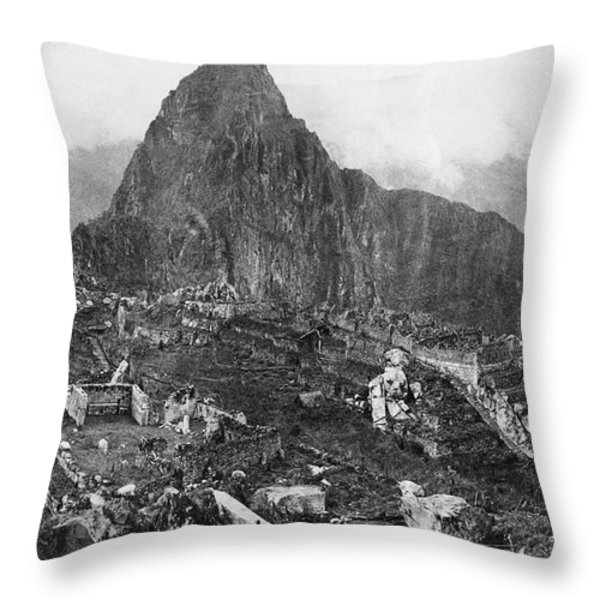 An Elevated View Of About Half Throw Pillow by Hiram Bingham