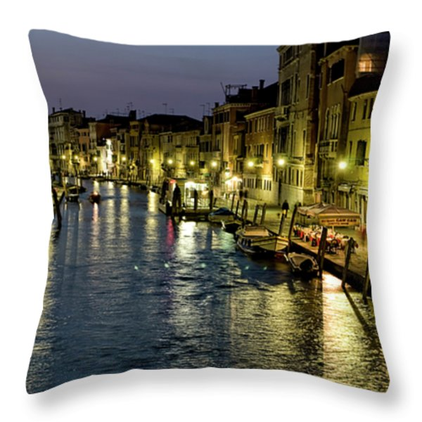 An Evening in Venice Throw Pillow by Michelle Sheppard