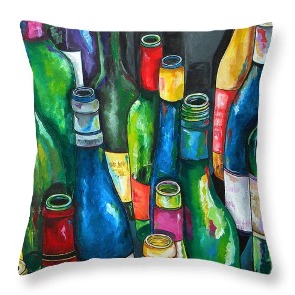 An Evening With Friends Throw Pillow by Patti Schermerhorn
