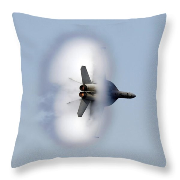 An Fa-18f Super Hornet Completes Throw Pillow by Stocktrek Images