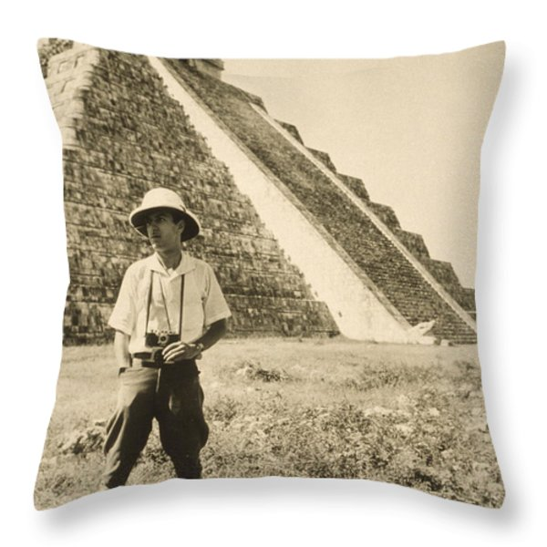 An Informal Portrait Of Photographer Throw Pillow by Luis Marden