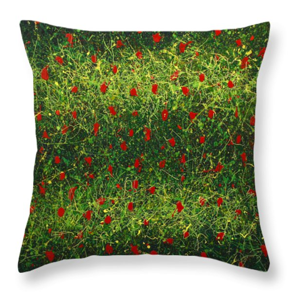 Anacrinas Throw Pillow by Ericka Herazo