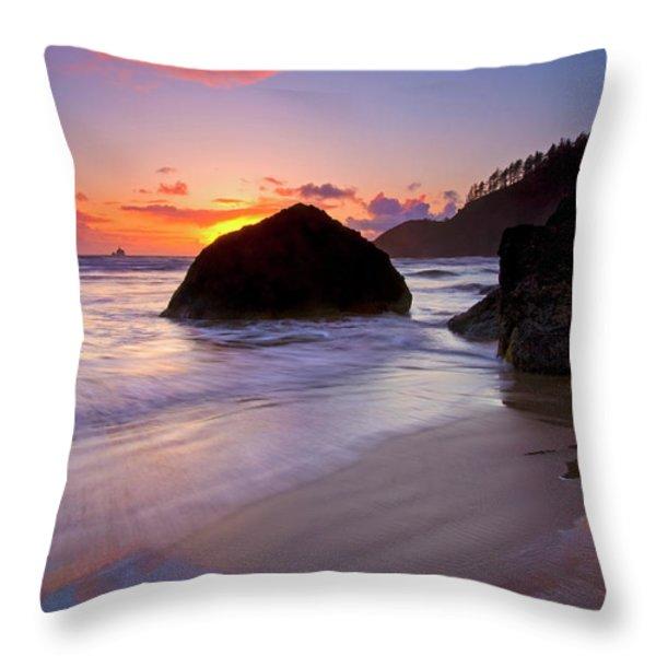 Anchoring The Beach Throw Pillow by Mike  Dawson