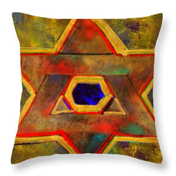 Ancient Star Throw Pillow by WBK