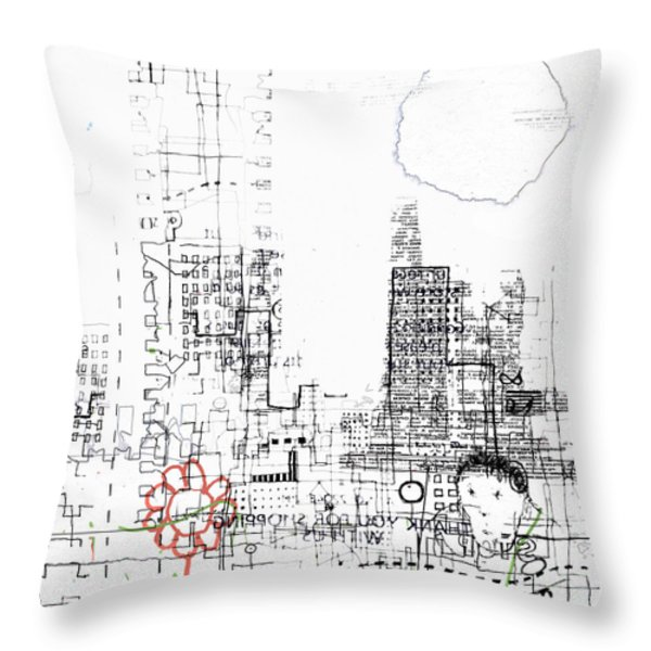 And Who Took Notice Throw Pillow by Andy  Mercer