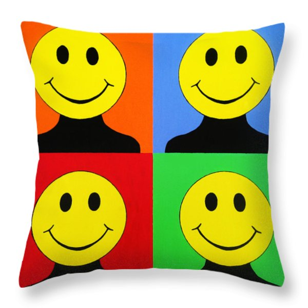 Andy Called It Acieed Throw Pillow by Oliver Johnston