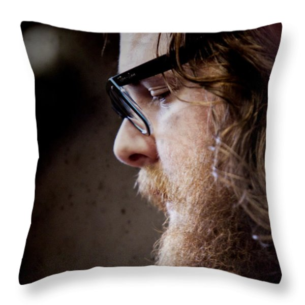 Andy Hull Of Manchester Orchestra Throw Pillow by Dustin K Ryan