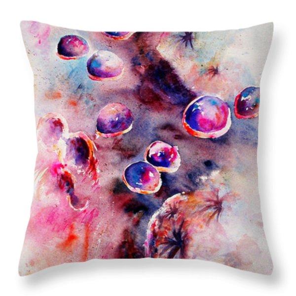 Anemone Throw Pillow by Rachel Christine Nowicki
