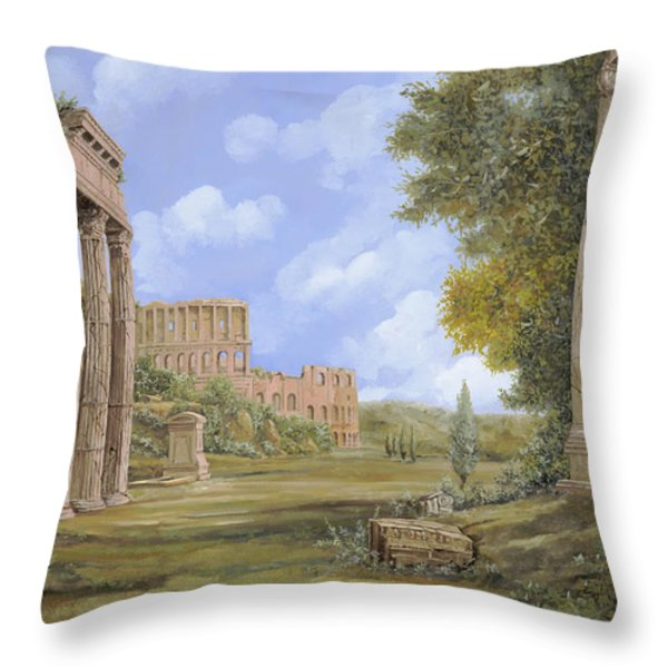 anfiteatro romano Throw Pillow by Guido Borelli