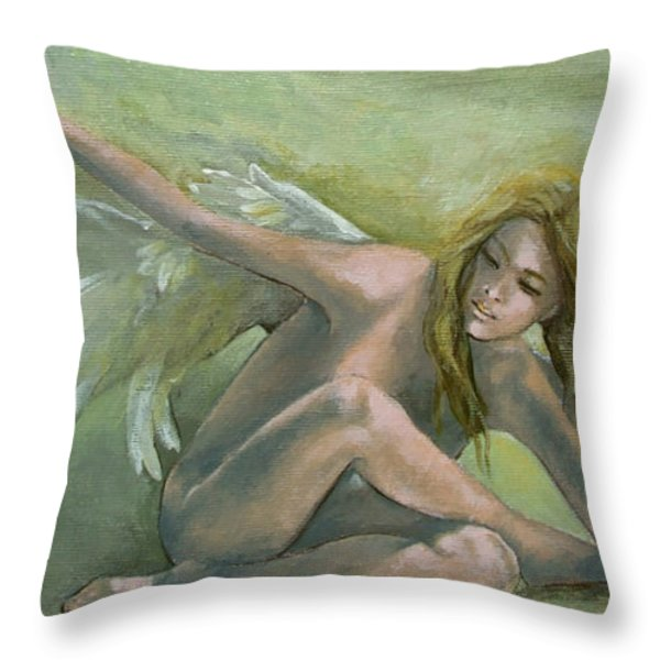 Angel Throw Pillow by Dorina  Costras