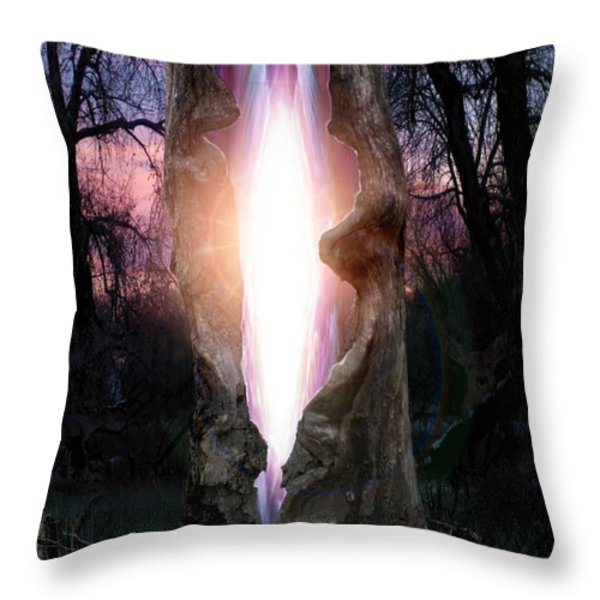 Angel In The Forest Throw Pillow by Bill Stephens