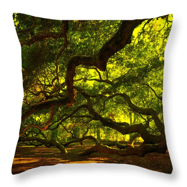 Angel Oak Limbs 2 Throw Pillow by Susanne Van Hulst