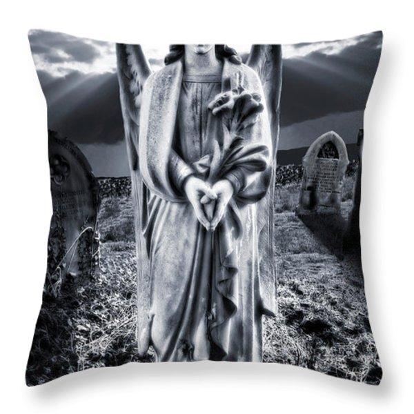 Angelic Light Throw Pillow by Meirion Matthias