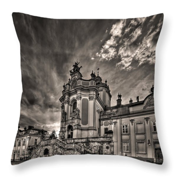Angels And Demons Throw Pillow by Evelina Kremsdorf