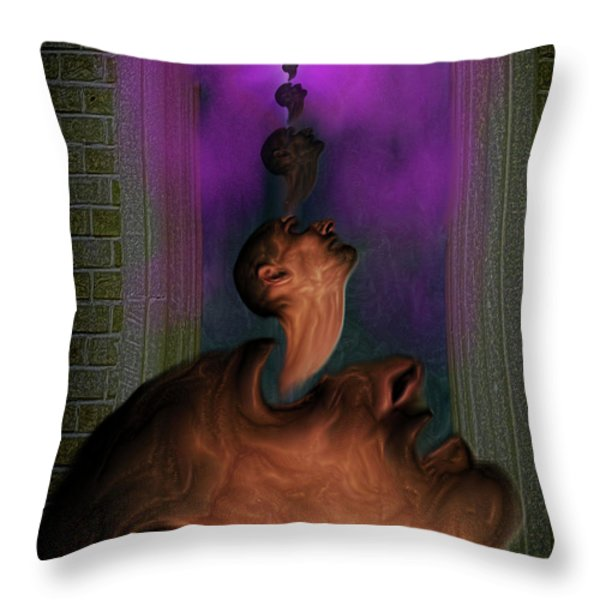 Anguish Throw Pillow by Mimulux patricia no