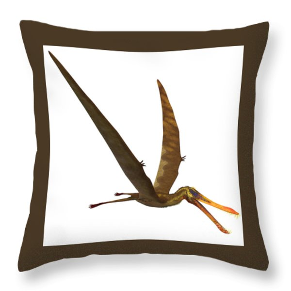 Anhanguera Pterosaur Throw Pillow by Corey Ford